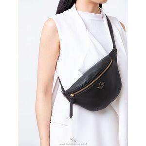 KATE SPADE Jackson Fanny Pack Black Leather Bag